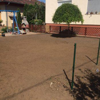 Kertépítés, öntözőrendszer, kerítés